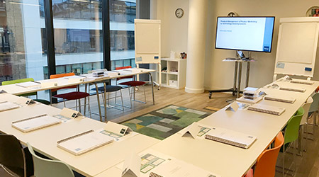 Product Focus London training venue - Wallacespace training room, Clerkenwell Green