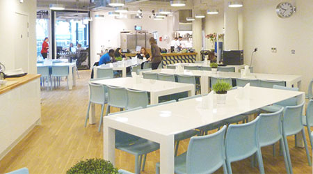 Product Focus London training venue - Wallacespace dining area, Clerkenwell Green