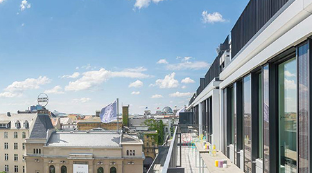 Product Focus Berlin training venue - Design Offices Berlin Am Zirkus, view over the city