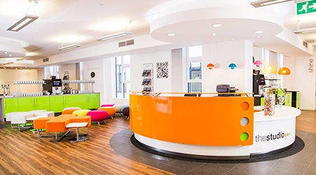 Product Focus Manchester training venue - thestudiomanchester, reception