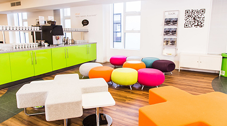 Product Focus Manchester training venue - thestudiomanchester, relaxation area