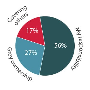 Product Management activity ownership pie chart